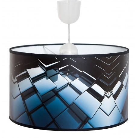 Lampa abażurowa kostka niebieska