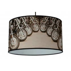 "Lampa abażurowa ""Motory-koła"""