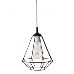 Lampa-diament-1loft czarna
