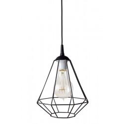 Lampa-diament-1loft czarna