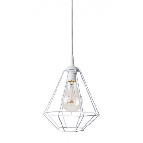 Lampa-diament-1loft biała