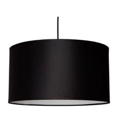 Abażur materiałowy czarny, szary i biały