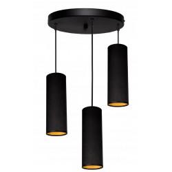 Tuba 3 plafon okrągły czarna