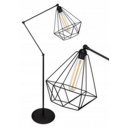 Kosz Lampa stojaca druciana w stylu loft