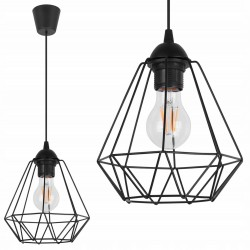 LAMPA SUFITOWA WISZĄCA DIAMENT LOFT EDISON 1 E27