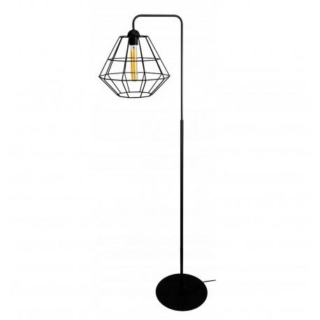 Kosz Lampa stojąca druciana w stylu loft 2 kolory czarny lub biały
