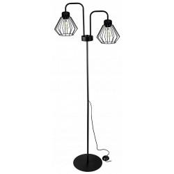 Kosz Lampa stojąca druciana w stylu loft 2 płomienna 2 kolory
