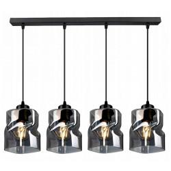 LAMPA KONTI-MEGAN-4 WISZĄCA SUFITOWA NOWOCZESNA 3 KOLORY konstrukcji i 3 kolory klosza