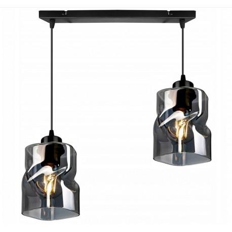 LAMPA KONTI-MEGAN-2 WISZĄCA SUFITOWA NOWOCZESNA 3 KOLORY konstrukcji i 3 kolory klosza
