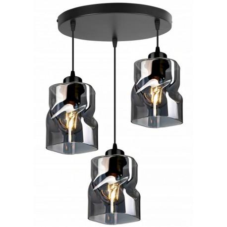 LAMPA KONTI-MEGAN-3 PLAFON WISZĄCA SUFITOWA NOWOCZESNA 3 KOLORY konstrukcji i 3 kolory klosza