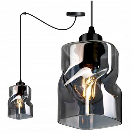 LAMPA KONTI-MEGAN-PAJĄK-1 WISZĄCA SUFITOWA NOWOCZESNA 3 KOLORY konstrukcji i 3 kolory klosza