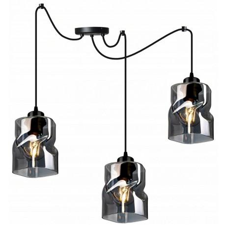 LAMPA KONTI-MEGAN-PAJĄK-3 WISZĄCA SUFITOWA NOWOCZESNA 3 KOLORY konstrukcji i 3 kolory klosza