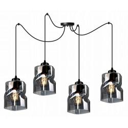 LAMPA KONTI-MEGAN-PAJĄK-4 WISZĄCA SUFITOWA NOWOCZESNA 3 KOLORY konstrukcji i 3 kolory klosza