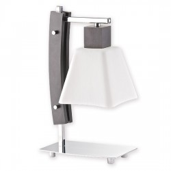 Lemir Dreno lampka stołowa 1 chrom + drewno - dostępna w dwóch kolorach