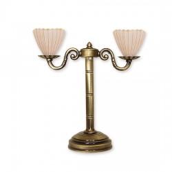 Lemir Prima plus stołowa lampka 2 patyna