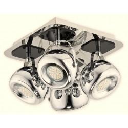 Lampa Geos LED 4-punktowa chrom od Lemir - dostępna w 3 kolorach